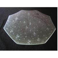 昭和型ガラス「銀河」 皿 八角形 中(Φ150mm)