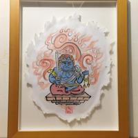 【手描きアート 原画】青不動