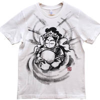 【手描きTシャツ】観音の心 白 コットン生地