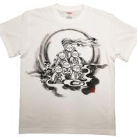 【手描きTシャツ】六地蔵さん 白 綿生地