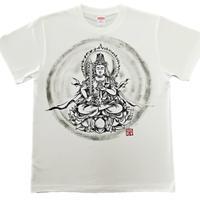手描きTシャツ 仏画 No.15 虚空蔵菩薩 白 綿生地 (半袖 長袖)