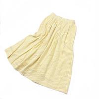 シアサッカーストライプロングスカート