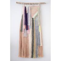 weaving  糸で色を作る-花瓶に生けた花-