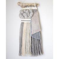 【受注生産】weaving 無彩色のカラーブロック