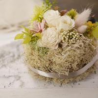 Petite Dried Flowers Cake   Brides No.005