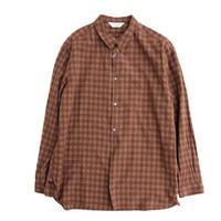 STILLBYHAND(スティルバイハンド)  プルオーバー レギュラカラーシャツ  BROWNCHECK