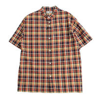 nisica(ニシカ)   バンドカラーシャツ  ORANGE