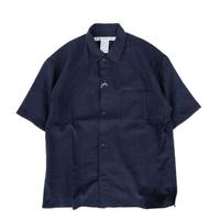 EELproducts(イールプロダクツ)   陶器釦のシャツ  NAVY