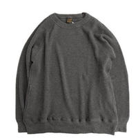 *A VONTADE(アボンタージ)  26/2 BD Waffle Crew Top  CHARCOAL