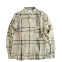 another20thcentury(アナザートゥエンティースセンチュリー)    ArtWorkⅡ Linen check   beg×nvy