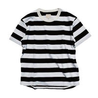 CURLY(カーリー)  ADVANCE SS BORDER TEE   BLACK