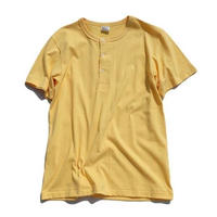 *A VONTADE(アボンタージ)   14/- Tube Henly Neck S/S  LT YELLOW