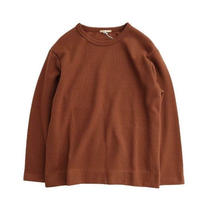 LAMOND(ラモンド)  RIB W.FACE PULLOVER   BROWN