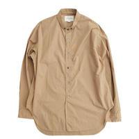 STILL BY HAND(スティルバイハンド)  スモールカラー ロングシャツ  BEIGE