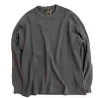 *A VONTADE(アボンタージ)   BD Waffle Mil. Crew L/S  CHARCOAL