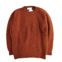 Shetland Woollen Co.(シェットランドウーレンコー)   シャギードックセーター  Rust