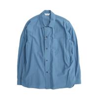 STILLBYHAND(スティルバイハンド)  オープンカラーシャツ  BLUE