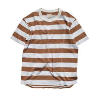 CURLY(カーリー)  ADVANCE SS BORDER TEE   BEIGE