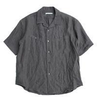 tilt The authentics(チルトザオーセンティックス)   Round Pocket Open Collar Linen Shirt   GRAY