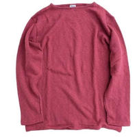 Tieasy authentic classic  002ボートネックシャツ  BURGUNDY