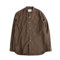 STILLBYHAND(スティルバイハンド)   バンドカラー ハケメシャツ  BROWN