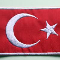 トルコ国旗/刺繍ワッペン