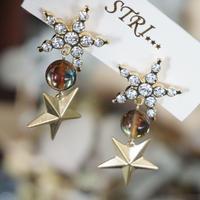 STRI //Cinq ピアス&イヤリング star earrings