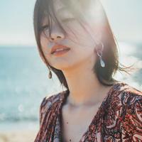 misa // イヤリング red シルバー