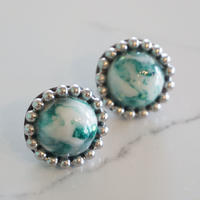 misa // ピアス green marble