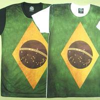 【アマゾン系?!深き緑のブラジル】ブラジル国旗Tシャツブラジル国旗Tシャツ【サイズ:M 】【5000円以上で】送料無料 Tシャツ メンズ 半袖 プリントTシャツ ブラジル国旗Tシャツ サッカーTシャツ