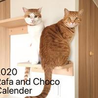 【送料無料】2020年『Rafa&Choco』壁掛けカレンダー