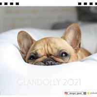 【予約販売】 フレンチブルドッグ donguri-gland 2021年 卓上カレンダー TC21120