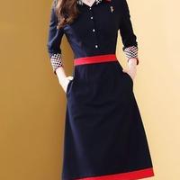 シンプル 上品 ドレス ワンピース ワンポイント バラ 大人