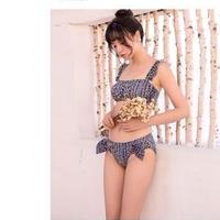フェミニン 小花柄 ルーズショルダー フリル ビーチ ビキニ