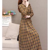 チェック柄 ミディアム ドレス ワンピース フォーマル 2色