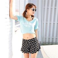 ドット柄 水玉 Tシャツ カジュアル 可愛い ビーチ タンキニ