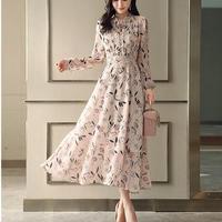 花柄 ドレス シフォン スリム ロング 可愛い ワンピース 3色