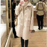 スリム ダッフル コート 可愛い アウター ジャケット 大人 2色