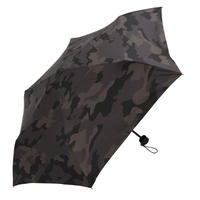 【a.s.s.a】FM288 カモフラージュ メンズ折りたたみ日傘 (ブラック・グレー)