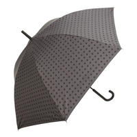 【a.s.s.a】ARL262 スクウェアチェック メンズ晴雨兼用傘  (ブラック・グレー)