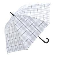 【a.s.s.a】ARL261 ネイトチェック メンズ晴雨兼用傘 (アイボリー・ブラック)