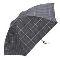 【a.s.s.a】ARM261 ネイトチェック メンズ晴雨兼用傘 (ブラック・アイボリー)