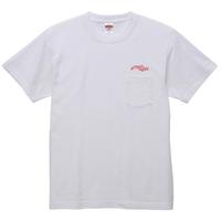 Logo Pocket T-SHIRTS WHITE(ink: RED)