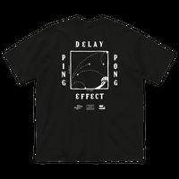 CHALKBOY x astrollage DELAY T-SHIRTS BLACK(ink: WHITE)