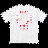 CHALKBOY x astrollage  DELAY T-SHIRTS WHITE(ink: RED)