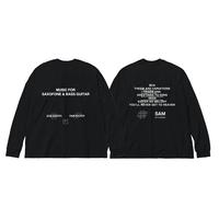 SAM GENDEL & SAM WILKES / Music For Saxofone & Bass Guitar Long Sleeve  T-shirts(ブラック)