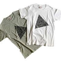 Tシャツ / Pi & Triangle(ホワイト/グレー)