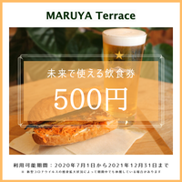 未来で使える飲食券(500円分)