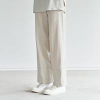 Li/C TWILL FRONT ZIP EASY PANTS