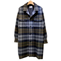 BALOON WOOL CHECK OVERSIZED COAT